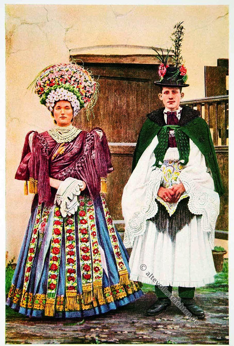 Hochzeitspaar Ungarn, 1920 | Traditionelle Kleider