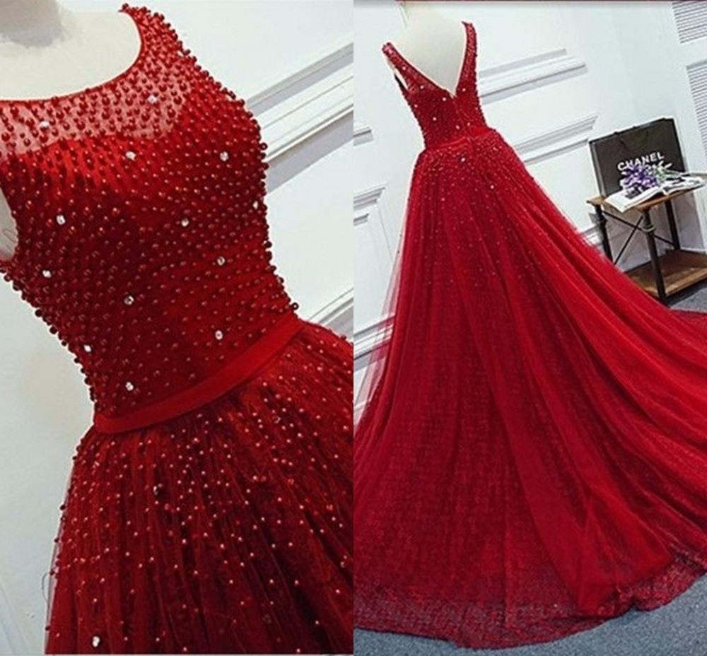 Hq Reale Abbildungen Rote Abendkleider Lang Illusion - Abendkleid