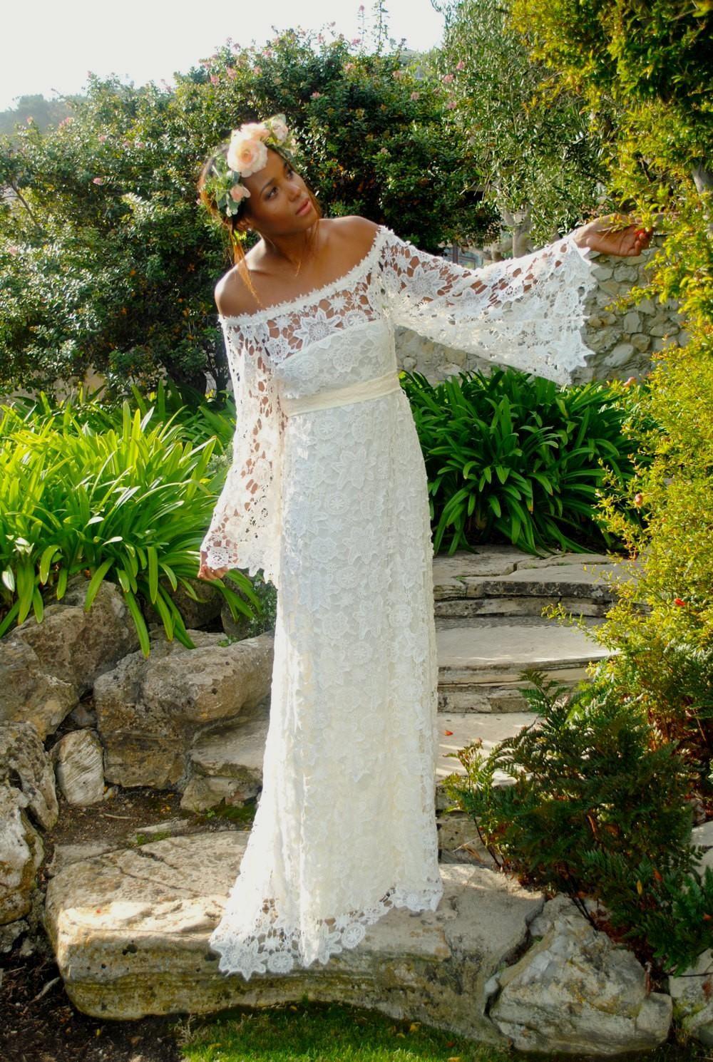 Immagine Correlata | Hippie Hochzeitskleid