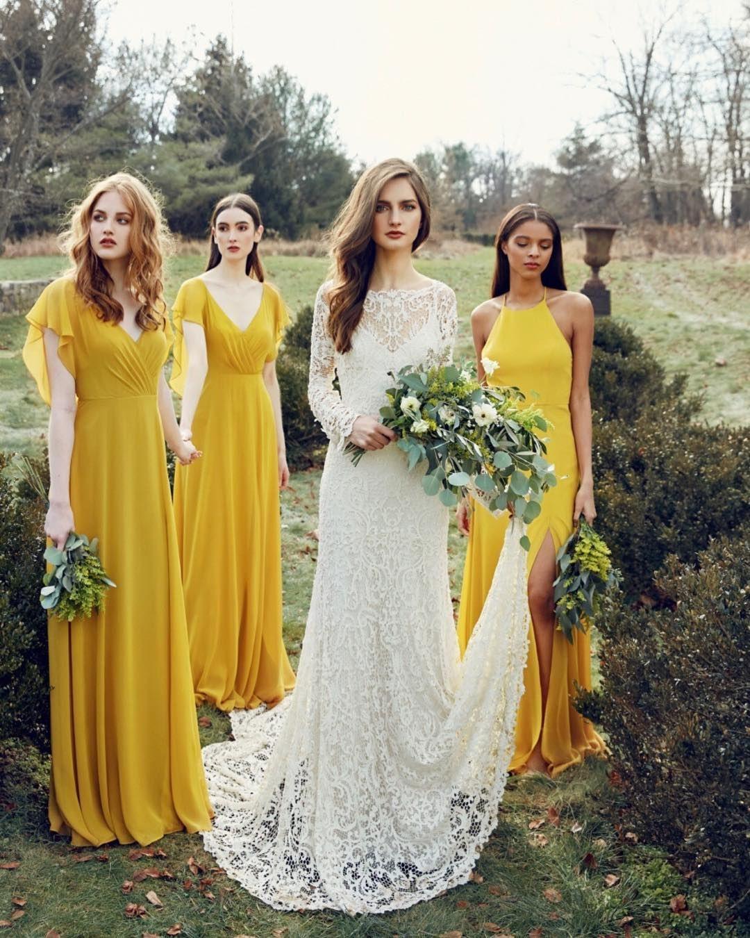 Instagram   Senfgelb Hochzeit, Braut Und Brautjungfern