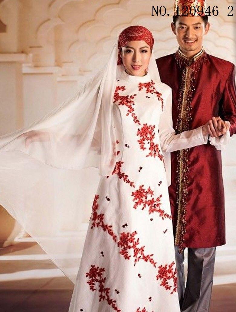 Islamischen Frauen Kleid Weiß Rot Blau Männer Abaya