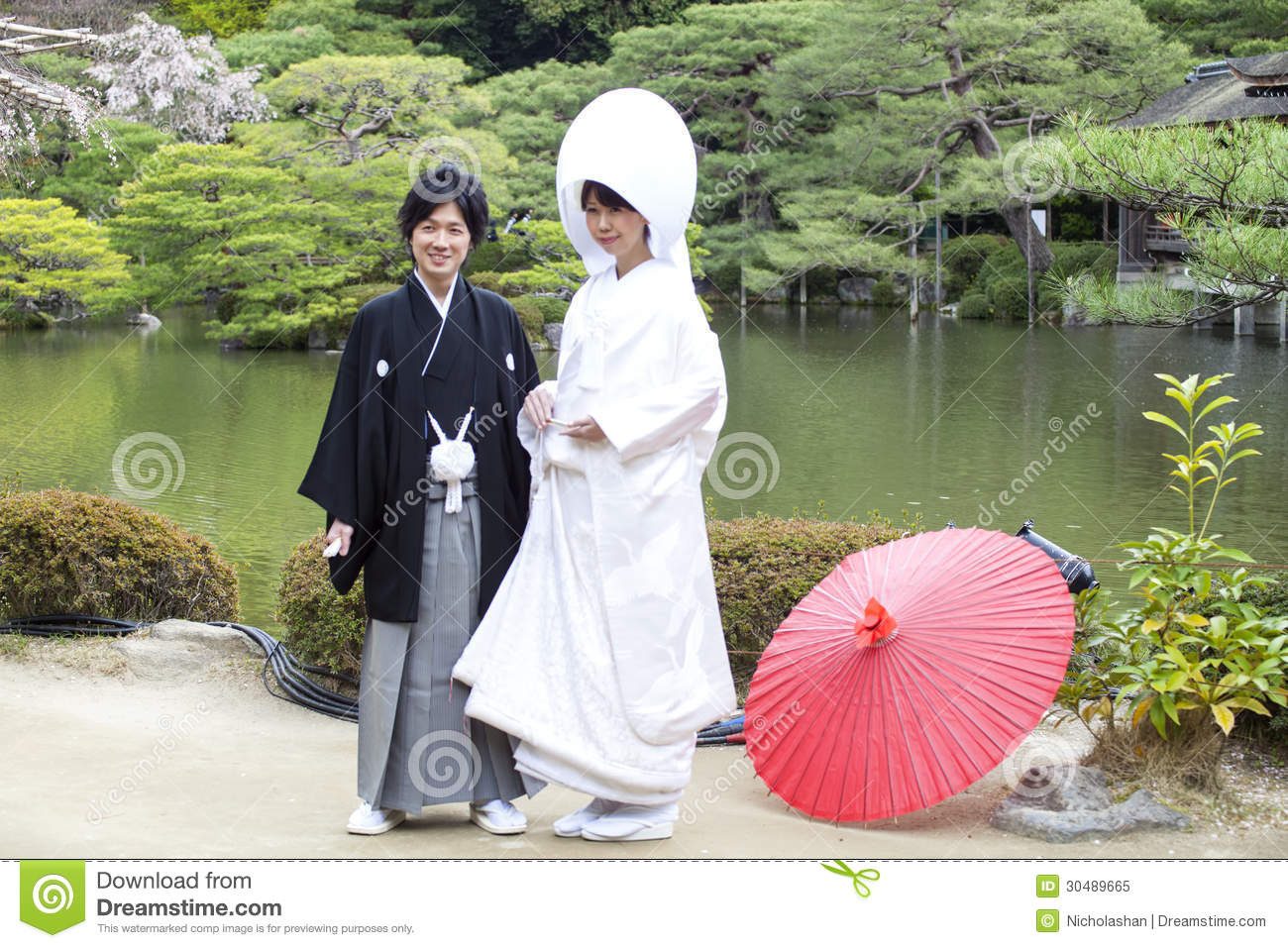 Japanisches Traditionelles Hochzeitskleid Redaktionelles - Abendkleid