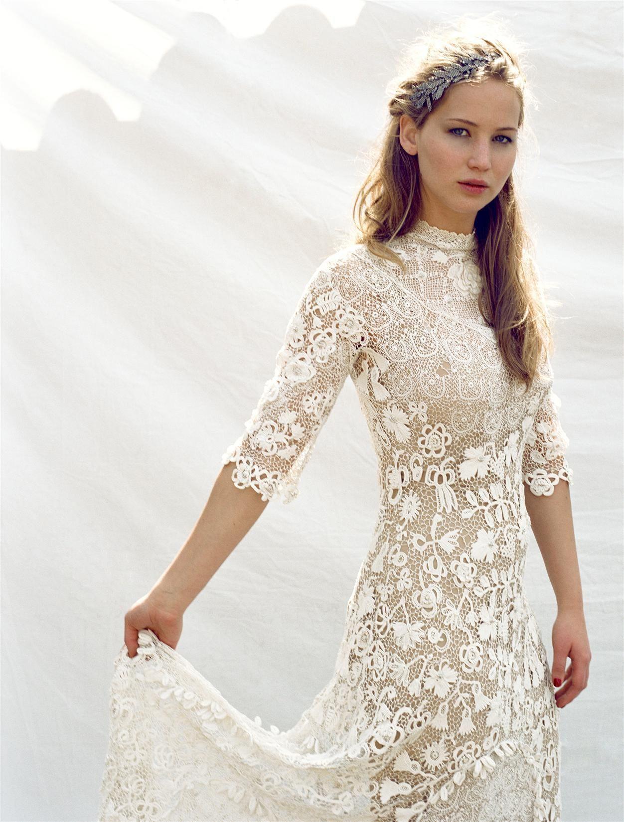 Jennifer Lawrence | Kleid Hochzeit, Hochzeitskleider Spitze