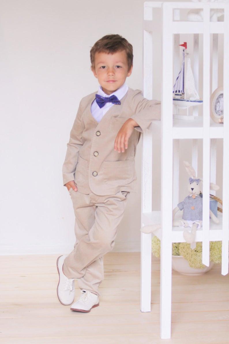 Jungen Blazer Hochzeit Partei Ringträger Anzug Samt Blazer Jungen Kleidung  Ringträger Blazer Kleinkind Jungen Blazer Taufe Outfit Familienfoto