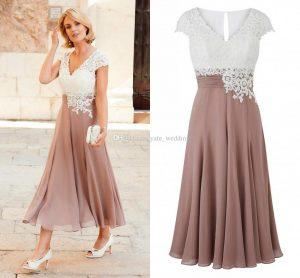 Kaufen Sie Im Großhandel Tea Length Wedding Dresses Sleeves