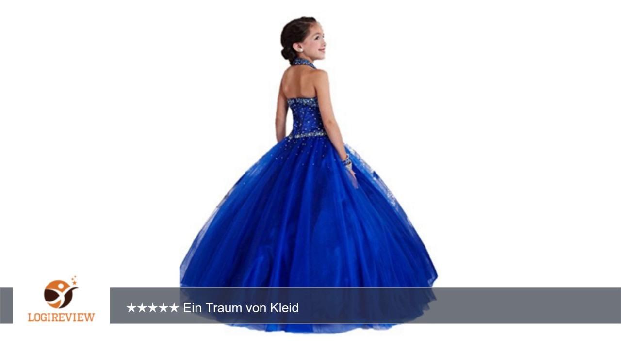 Kekehouse® Lang Tüll Hochzeit Fest Mädchen Kleid Kinderkleid Kommunionkleid  Ballkleid Blumenmädchen