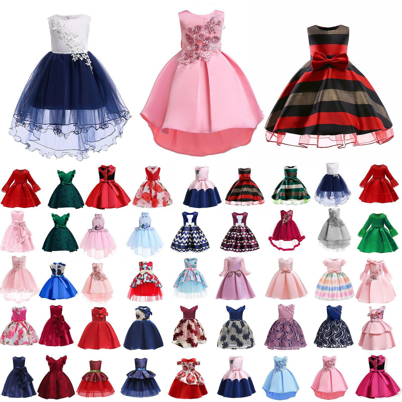 Kinder Mädchen Prinzessin Kleider Festkleid Hochzeit