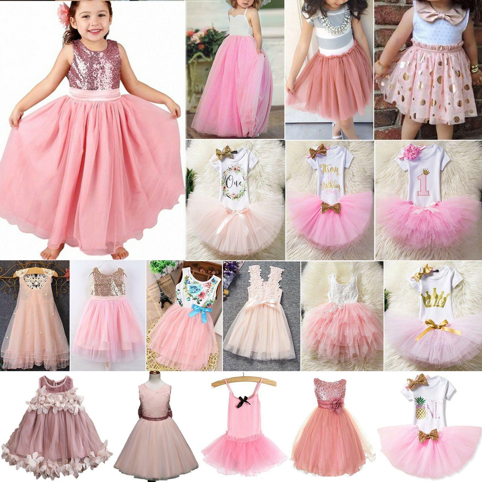Kinder Mädchen Prinzessin Partykleid Tüll Tutu Kleider