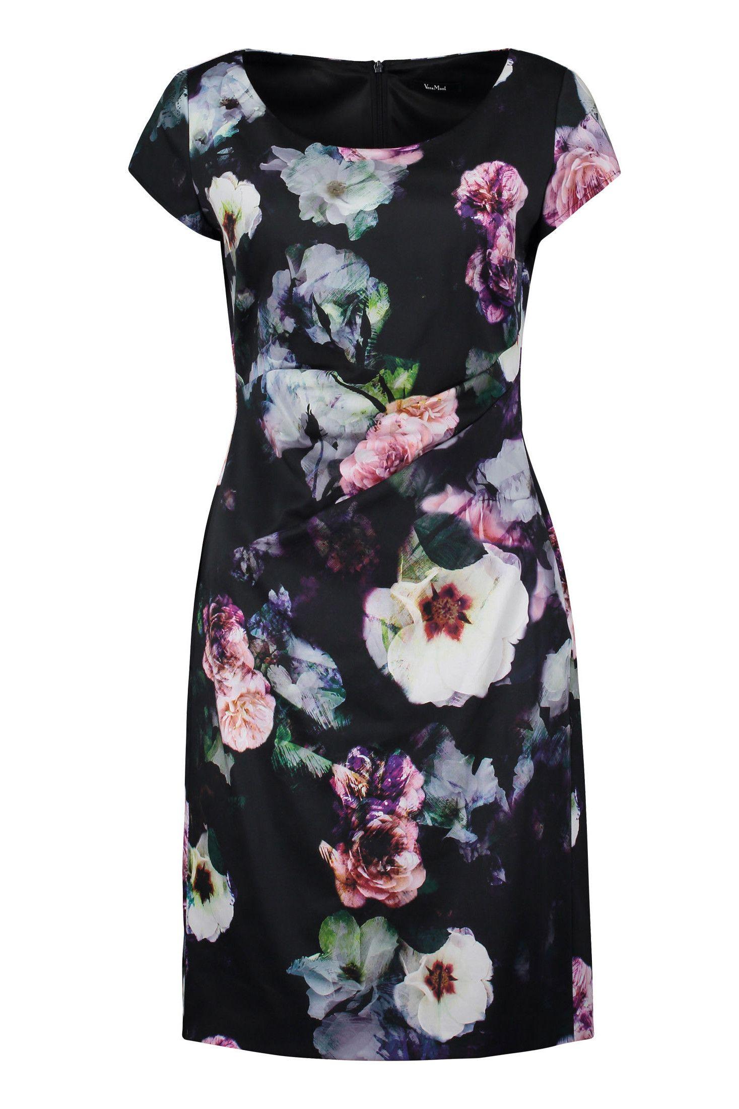 Kleid Baumwollsatin Blütenprint Vera Mont | Mode Bösckens