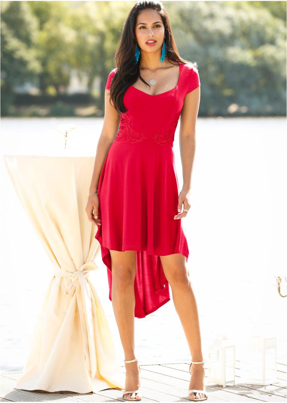 Kleid Bodyflirt Rot Online Mit Kaufen Stickerei Ikupxotz