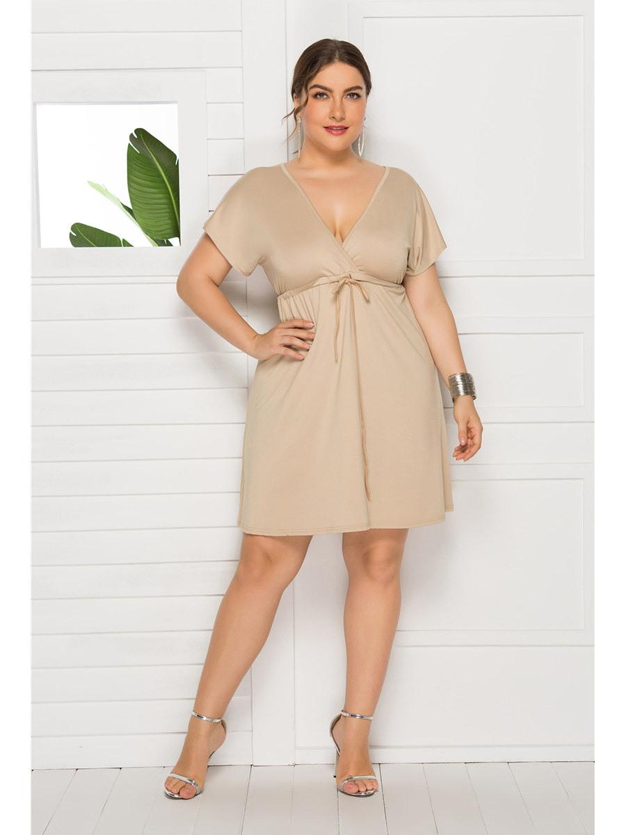 Kleid Empire Für Mollige Umstandskleider Große Größen Kurz Blau V Ausschnitt
