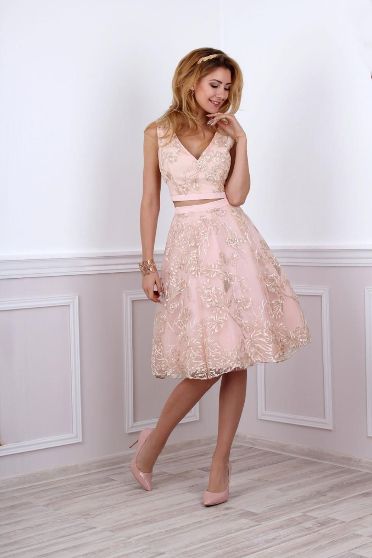Kleid Für Standesamtliche Trauung In Rosa Gold In 2020