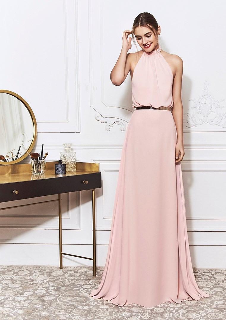 Kleid In A-Linie Mit Bezauberndem Neckholder-Ausschnitt Und