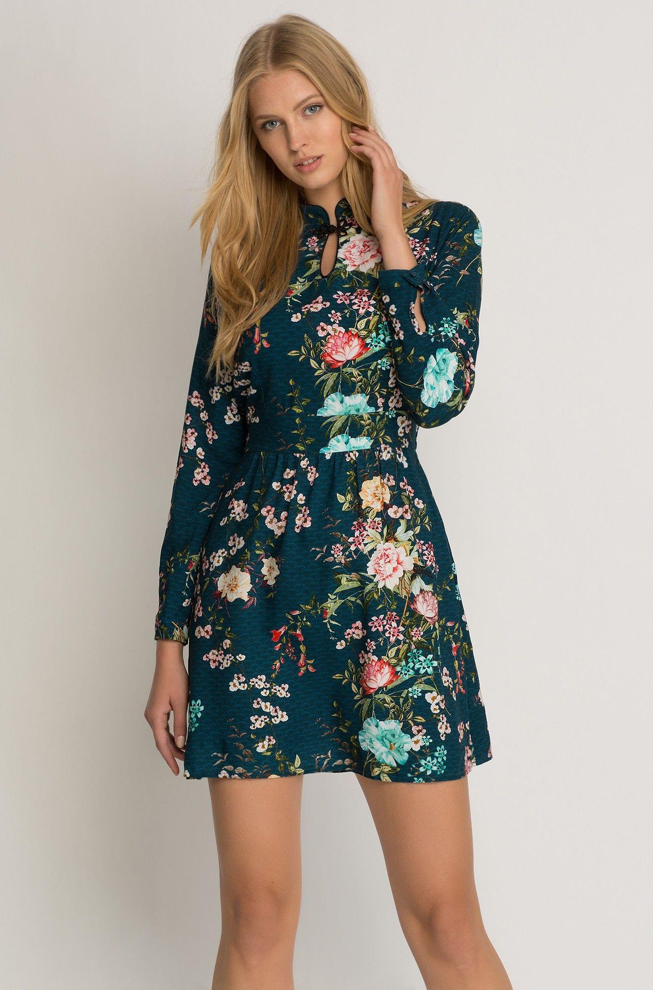 Kleid Mit Blumen-Muster   Orsay   Kleider, Schöne Kleider