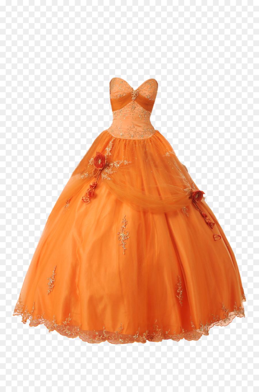 Kleid Orange Hochzeit Kleidung Rot - Kleid Png Herunterladen