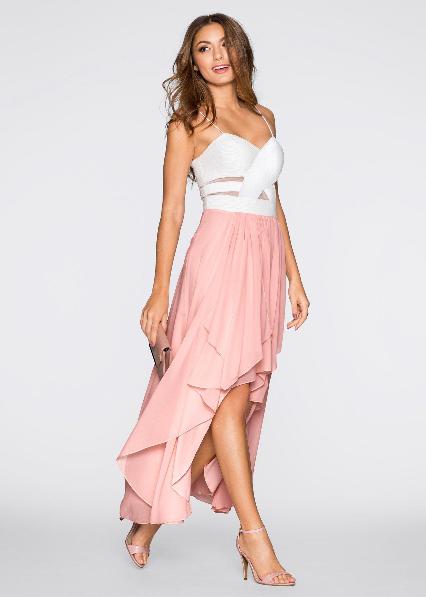 Kleid Weiß/rosa - Bodyflirt Jetzt Im Online Shop Von Bonprix