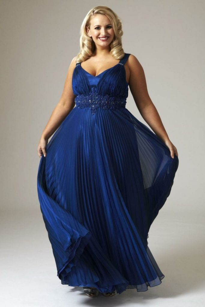 Kleider In Grossen Grossen Elegante Mode Fur Kurvige Damen Abendkleid