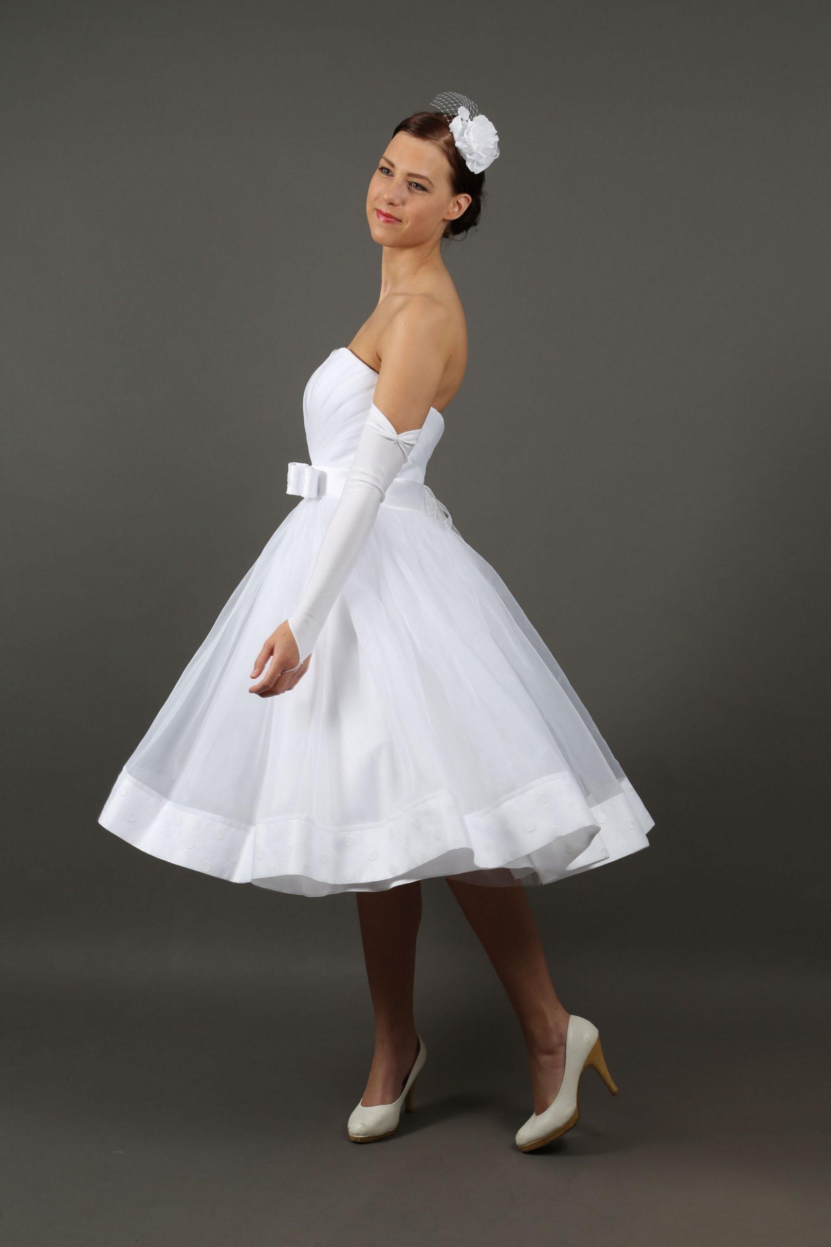 Kleiderfreuden.de Rockabilly Brautkleid In Weiß