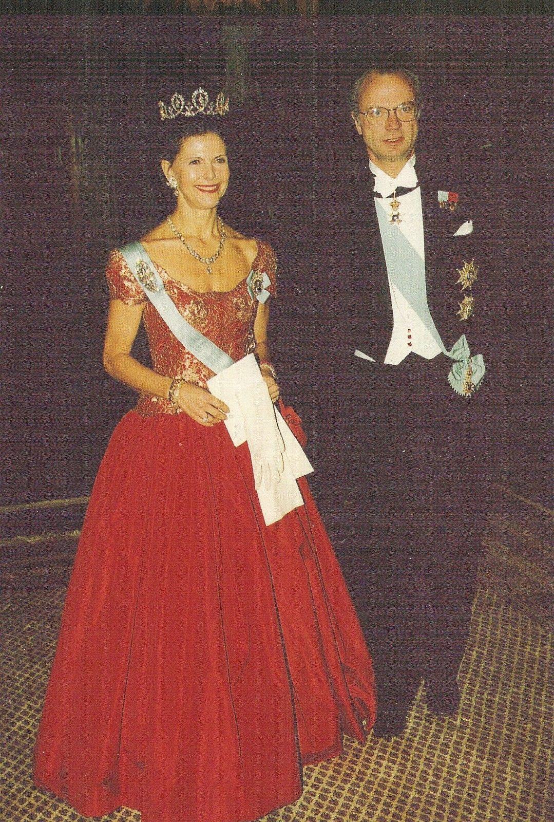 Königin Silvia-König Carl Gustaf-Adel-Royal-Original