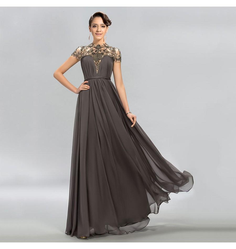 Fantastisch Abend Kleid Grau Ärmel15 Schön Abend Kleid Grau Stylish