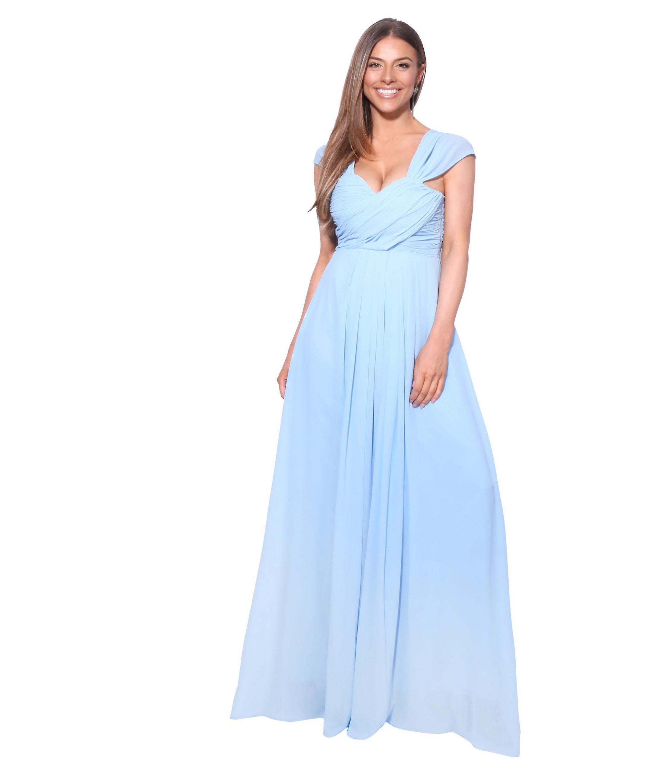 Damen Spitze Lang Maxi Sommerkleid Party Ball Hochzeit Brautjungfer Abendkleider