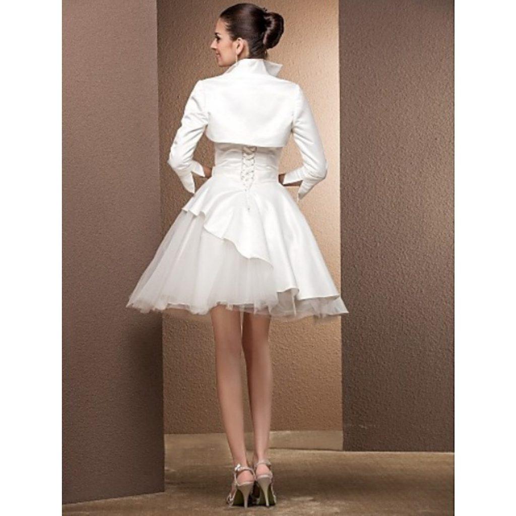 Kurzes Brautkleid 10 Mit Bolero Jacke - Abendkleid