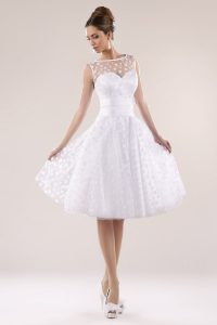 Kurzes Brautkleid Standesamtkleid Mit Punkten - Kleiderfreuden