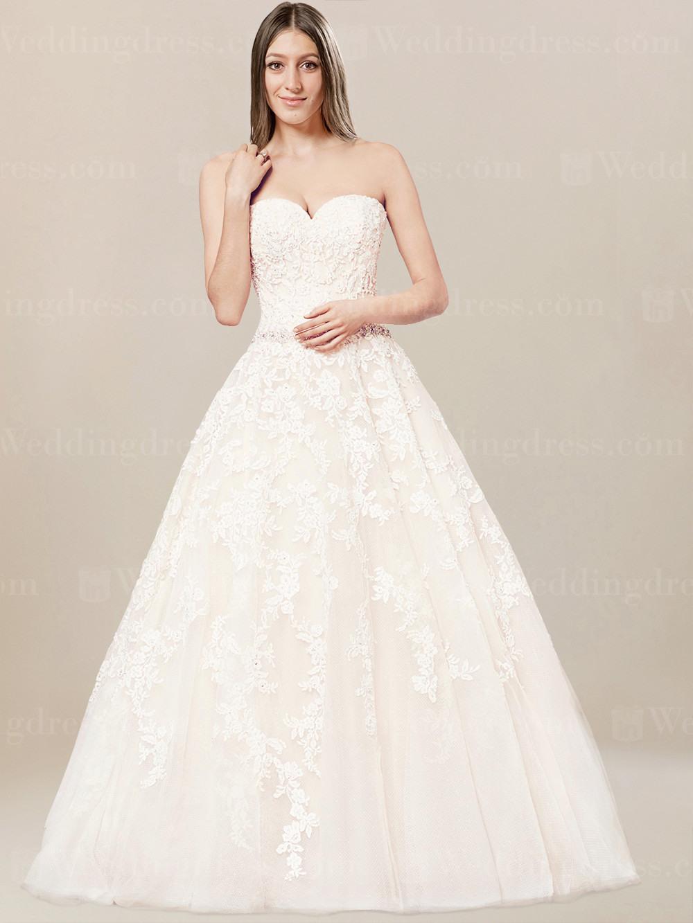Lace Trägerlos Hochzeitskleid-Sp171