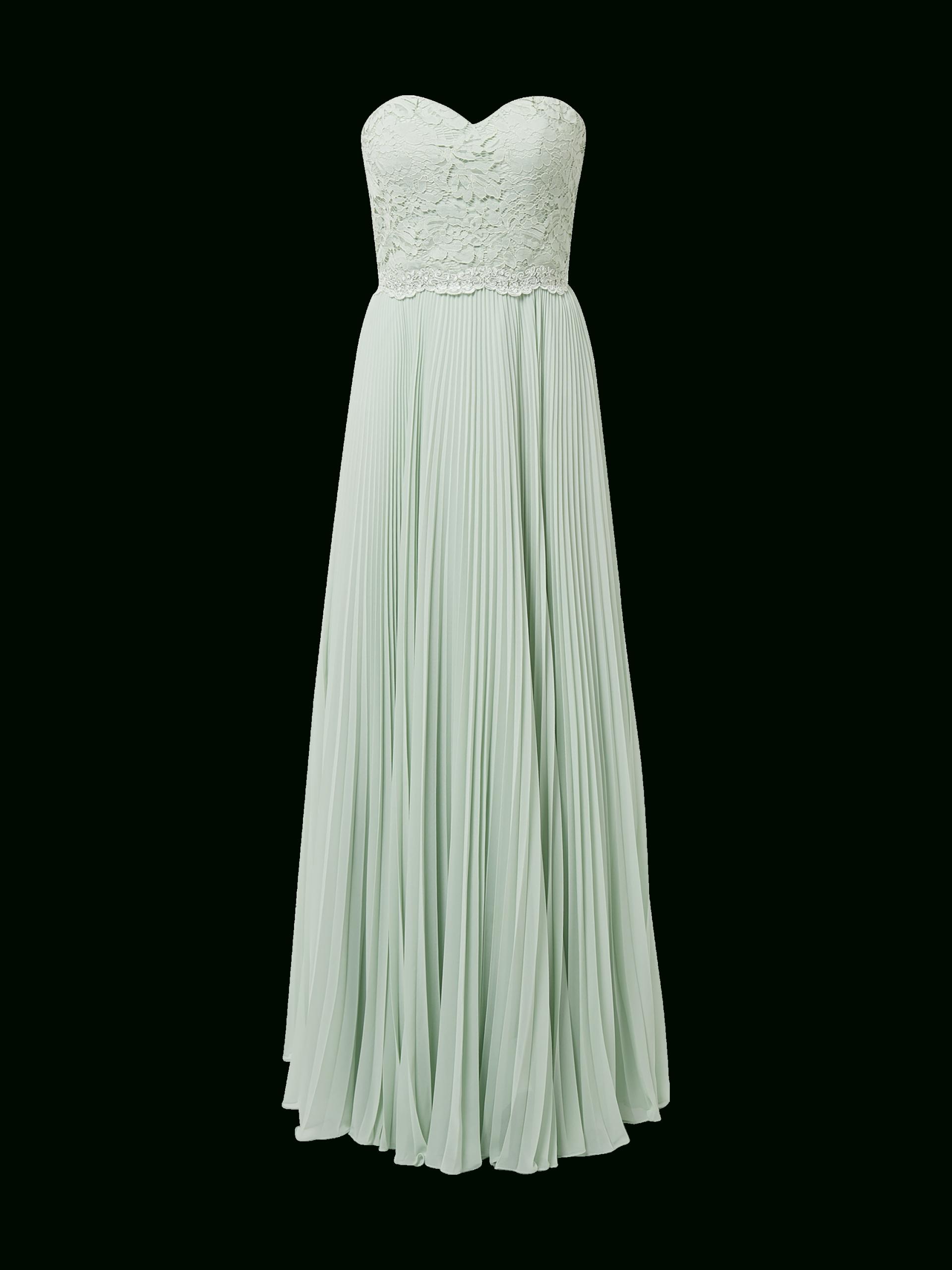 Laona – Corsagenkleid Mit Plisseefalten – Hellgrün
