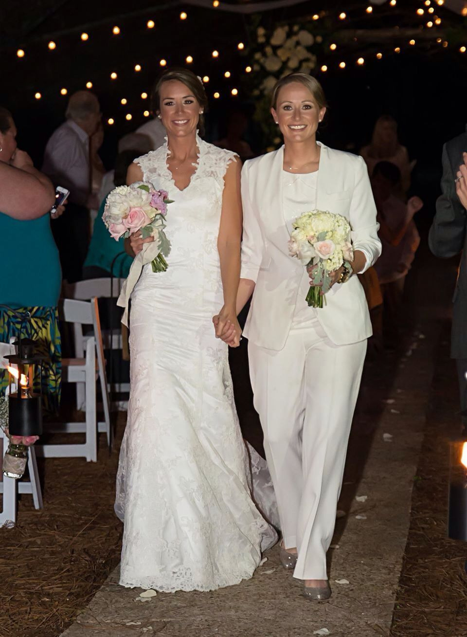 Lesbian Wedding, Brides, Two Brides, Vintage Wedding, Pants