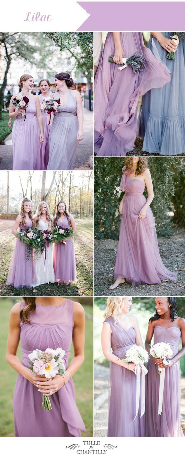 Lilac Lavender Summer Wedding Colors And Bridesmaid Dresses