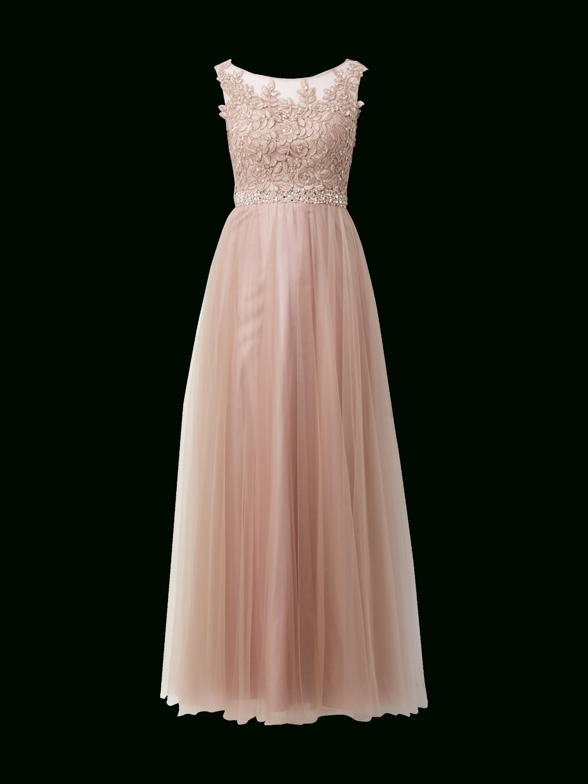 Luxuar – Abendkleid Mit Floralen Stickereien – Mauve