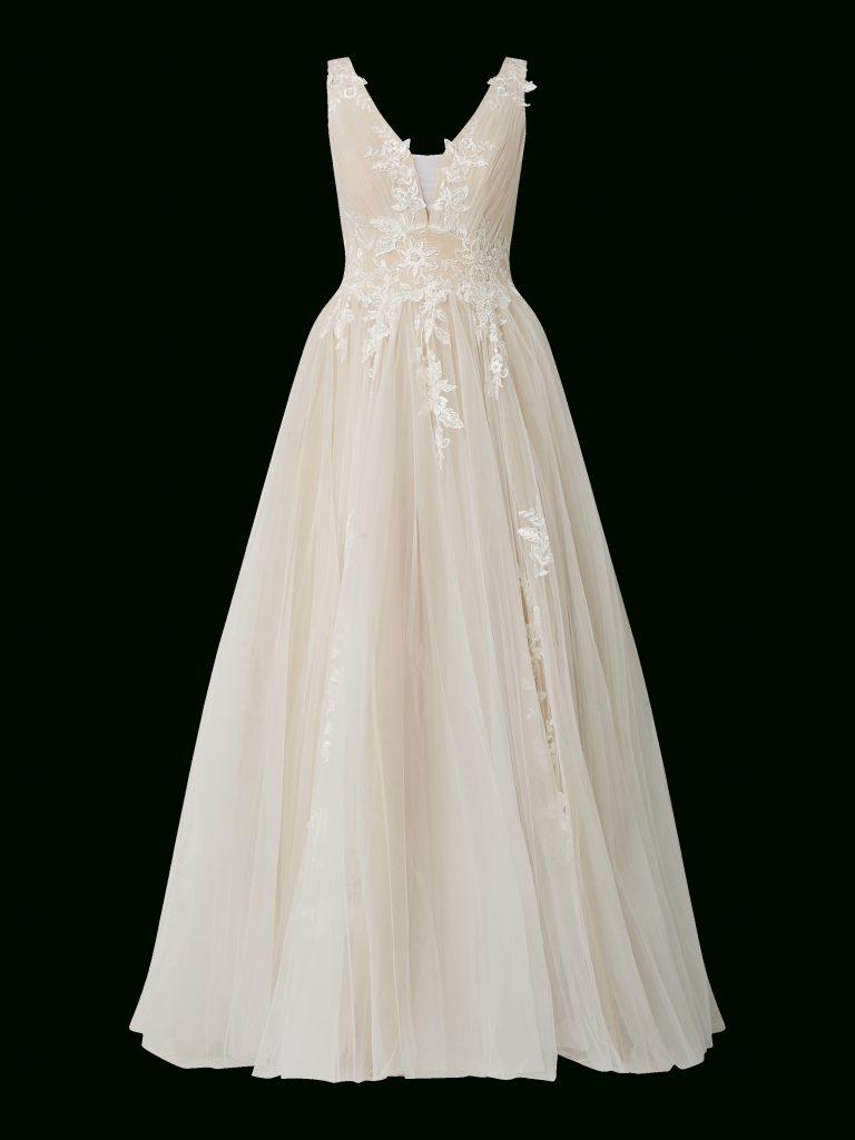 Luxuar – Brautkleid Aus Mesh Mit Stickereien – Offwhite - Abendkleid
