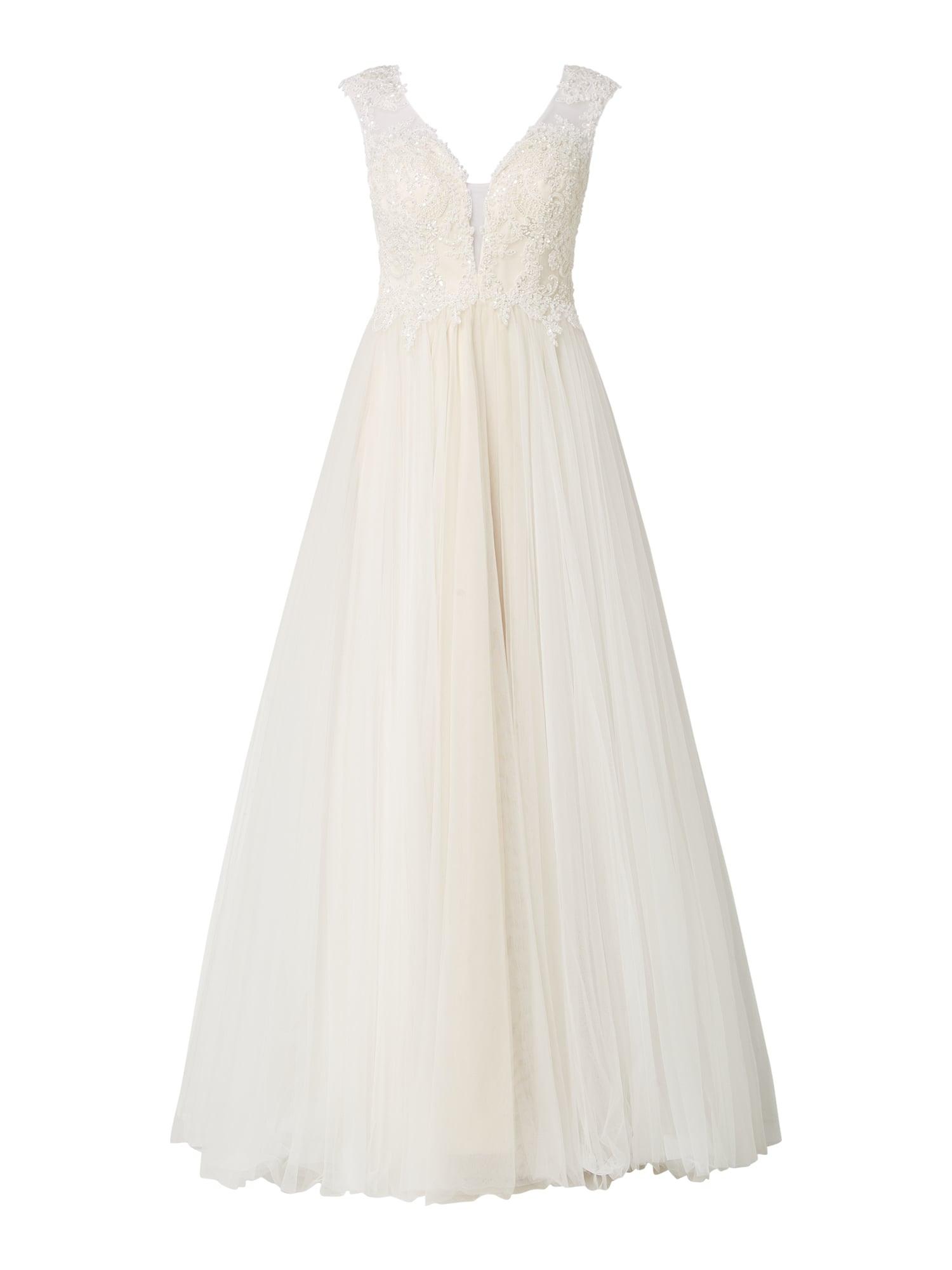 Luxuar Brautkleid Aus Mesh Mit Zierperlenbesatz In Weiß Online Kaufen  (1020516) ▷ P&c Online Shop