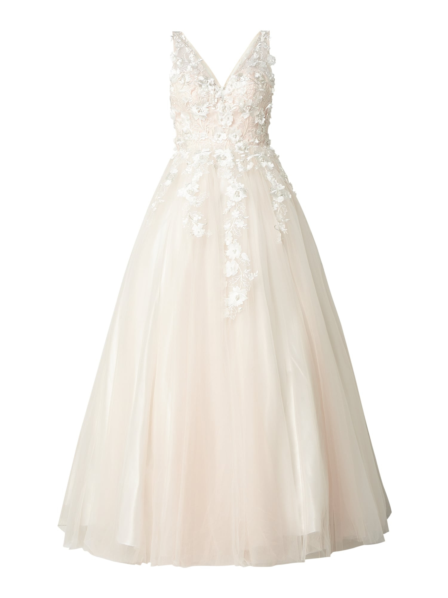 Luxuar Brautkleid Mit Floralen Stickereien In Weiß Online Kaufen (1020464)  ▷ P&c Online Shop