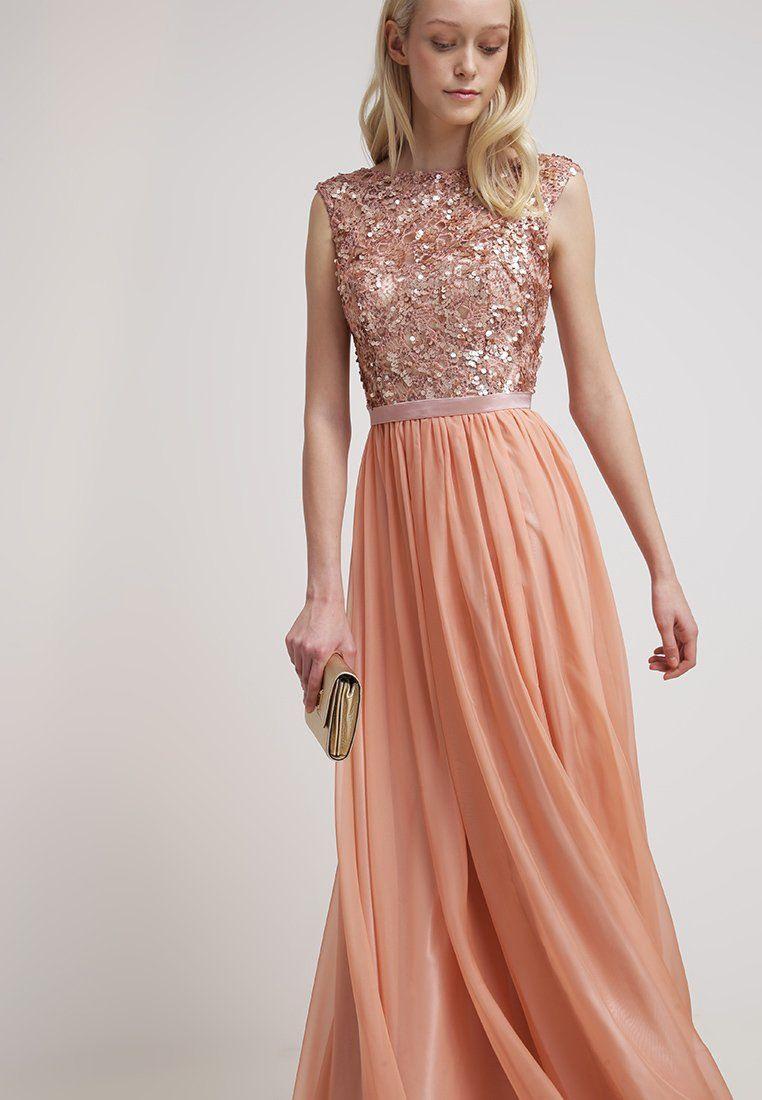 Luxuar Fashion - Robe De Cocktail - Apricot   Kleider Für