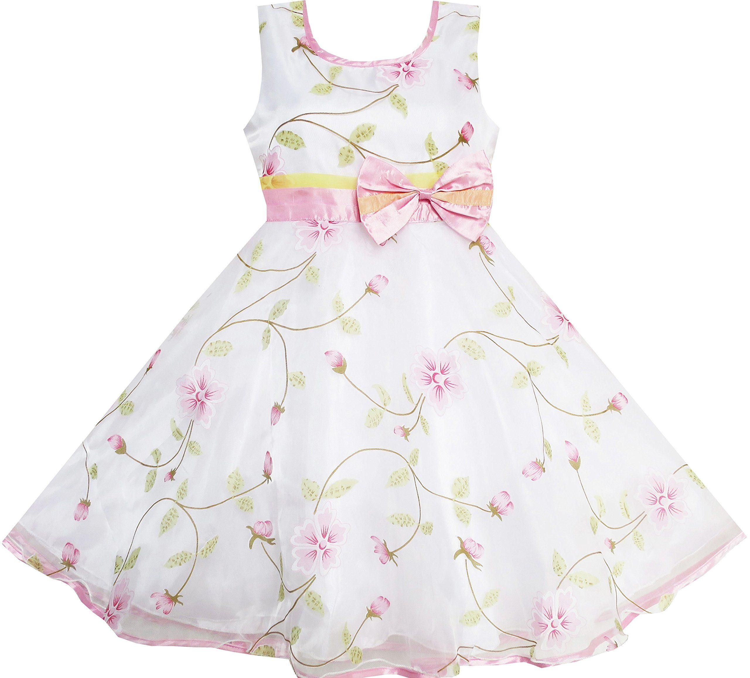 mädchen kleid blume blätter hochzeit weiß festzug - abendkleid