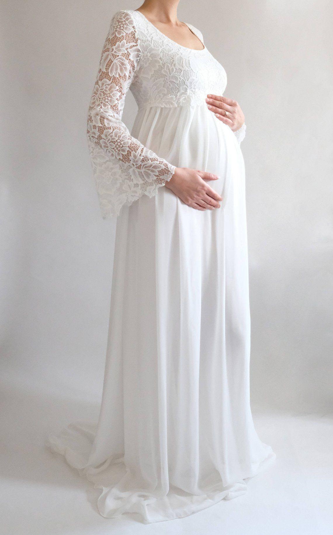 Margaret Boho Wedding Dress Lace Maternity Dress For Baby