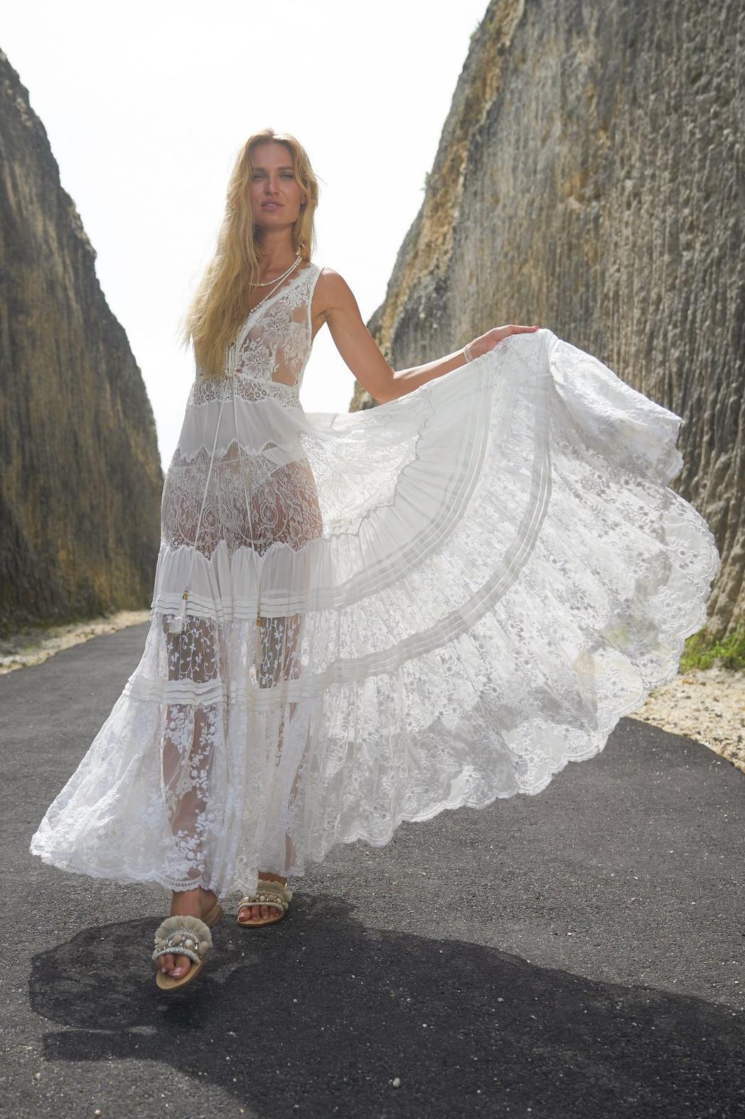 Maxi Brautkleid - Weiß