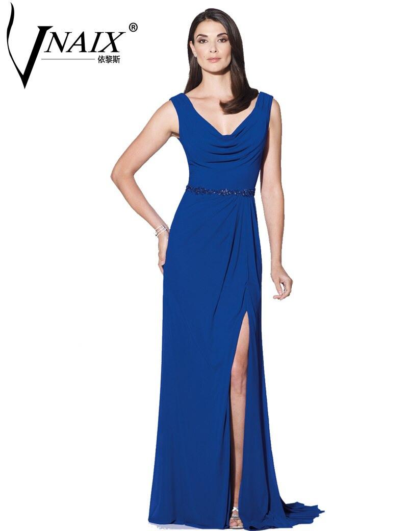 Mbd005 Hochzeitsgäste Kleider Neue Vnaix Königsblau V