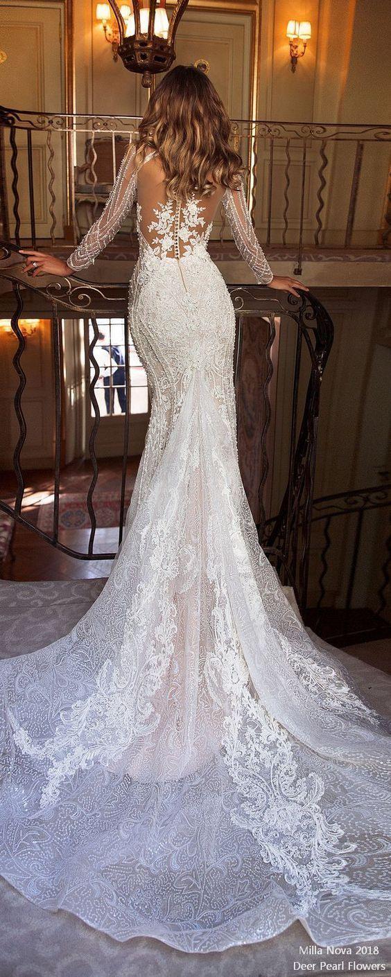 Meerjungfrau Hochzeitskleid 2019 - Brautkleider Meerjungfrau