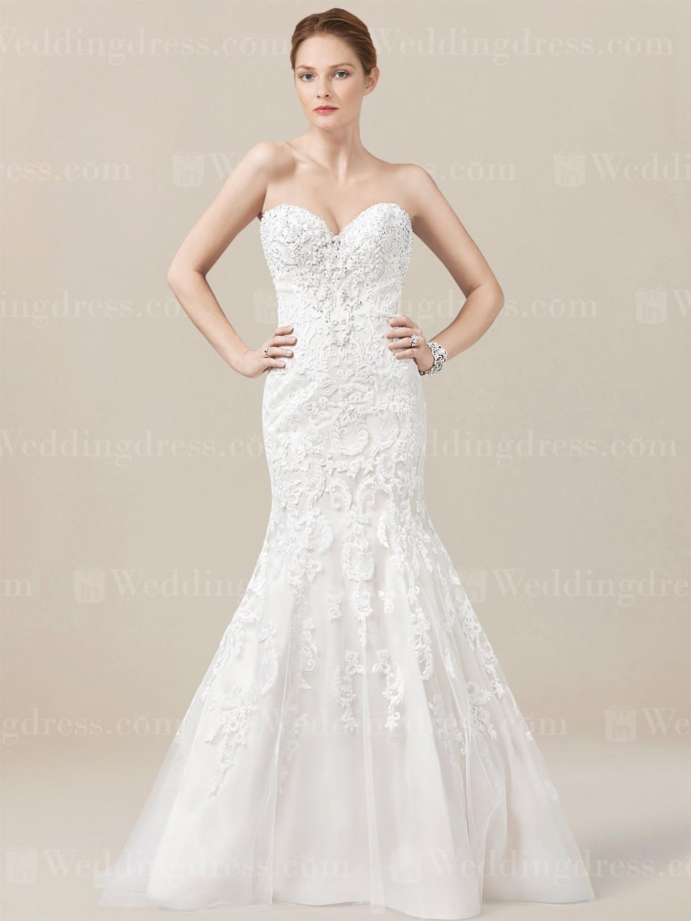 Meerjungfrau Trägerlos Hochzeitskleid Sp192
