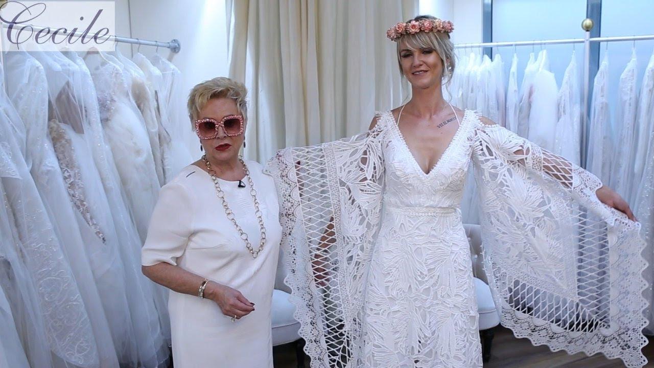 Mega-Hingucker: Hippie-Hochzeitskleid Aus Makramee