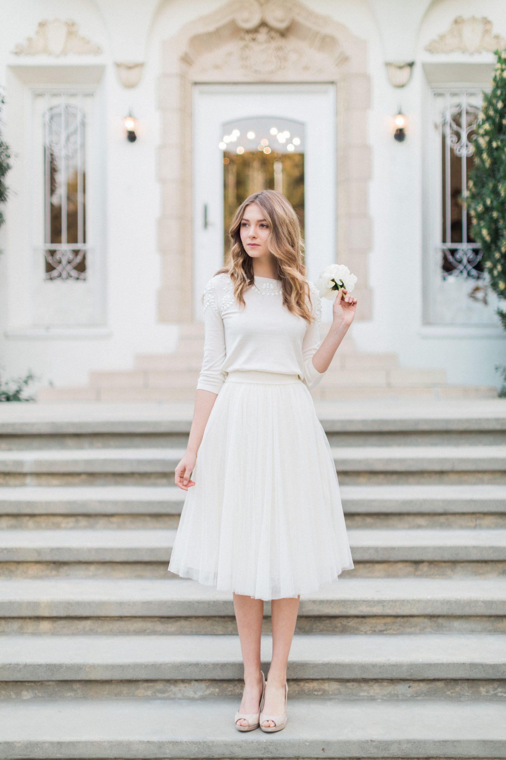 Millie Sweater + Lucy Skirtjenny Yoo | Hochzeit Kleid