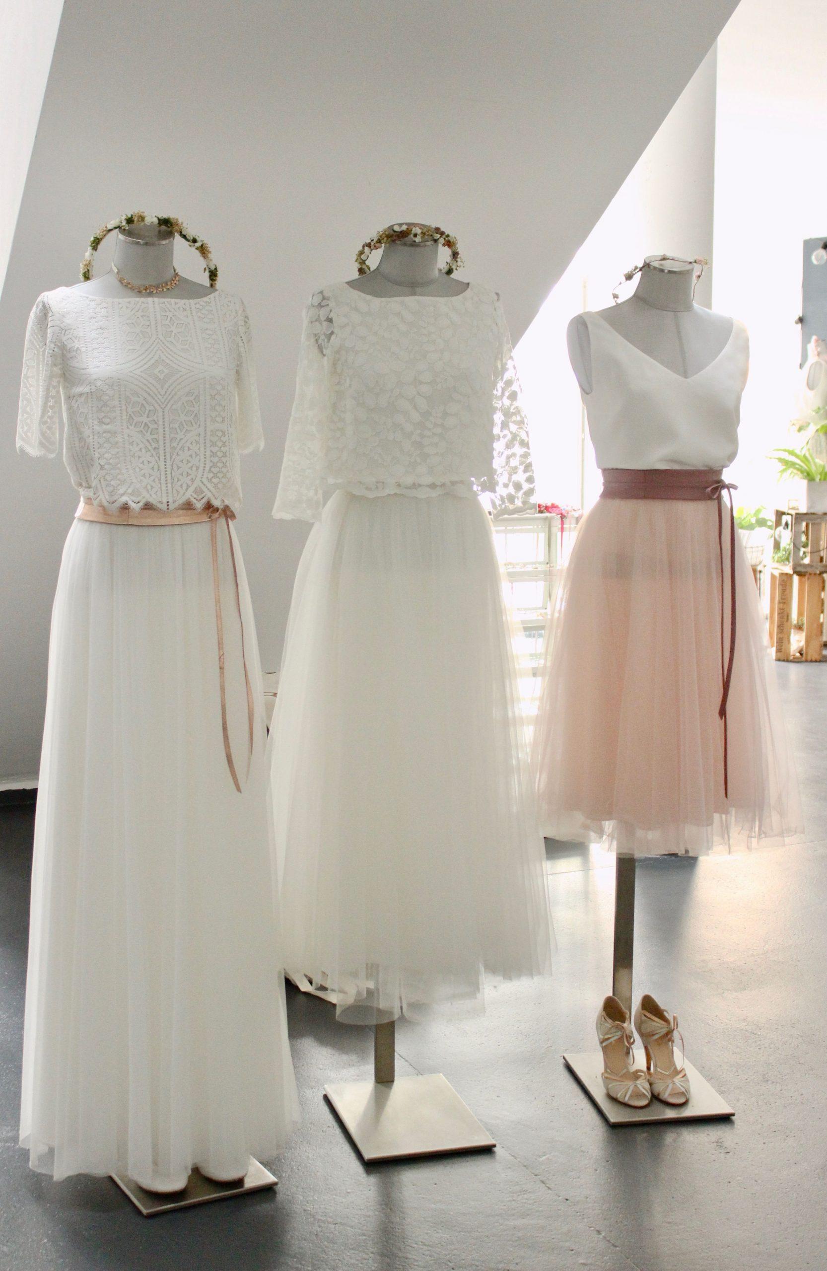 Moderne Brautkleider, Zweiteilige Hochzeitskleider Und Braut