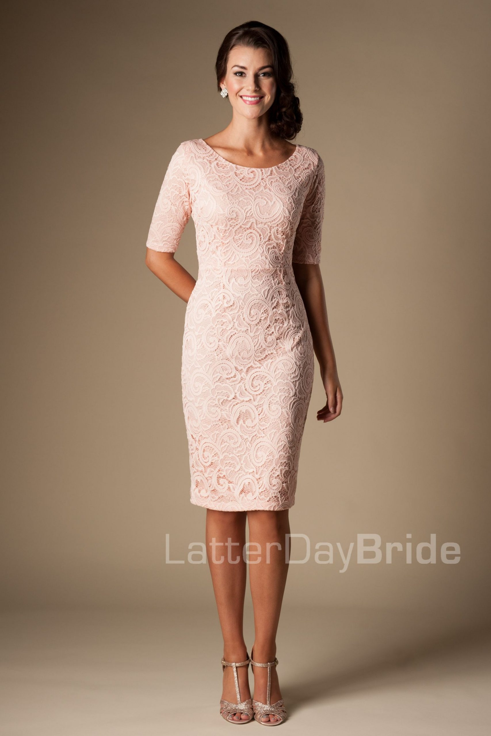 Modest Bridesmaid Dresses How Lovely  Festliche Kleider - Abendkleid