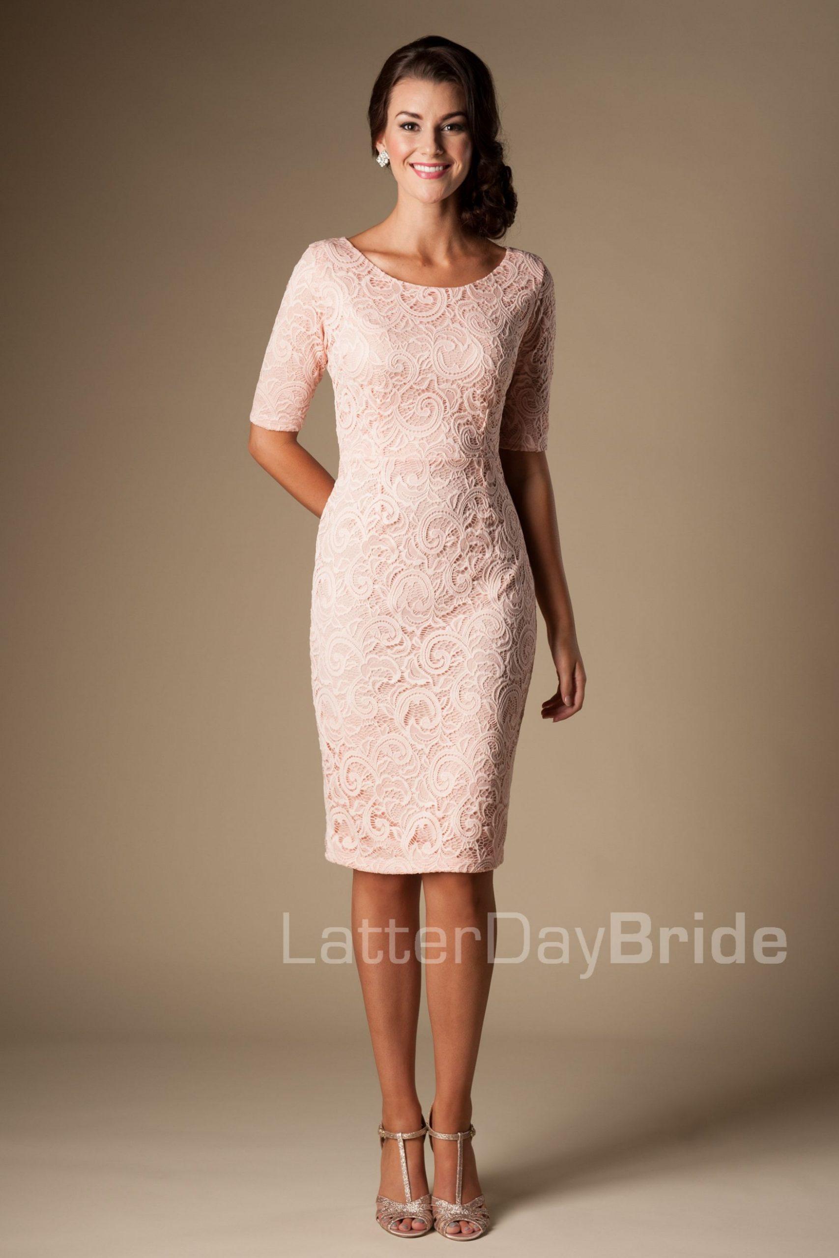 Modest Bridesmaid Dresses : Mw22874 Cocktail Dress Option