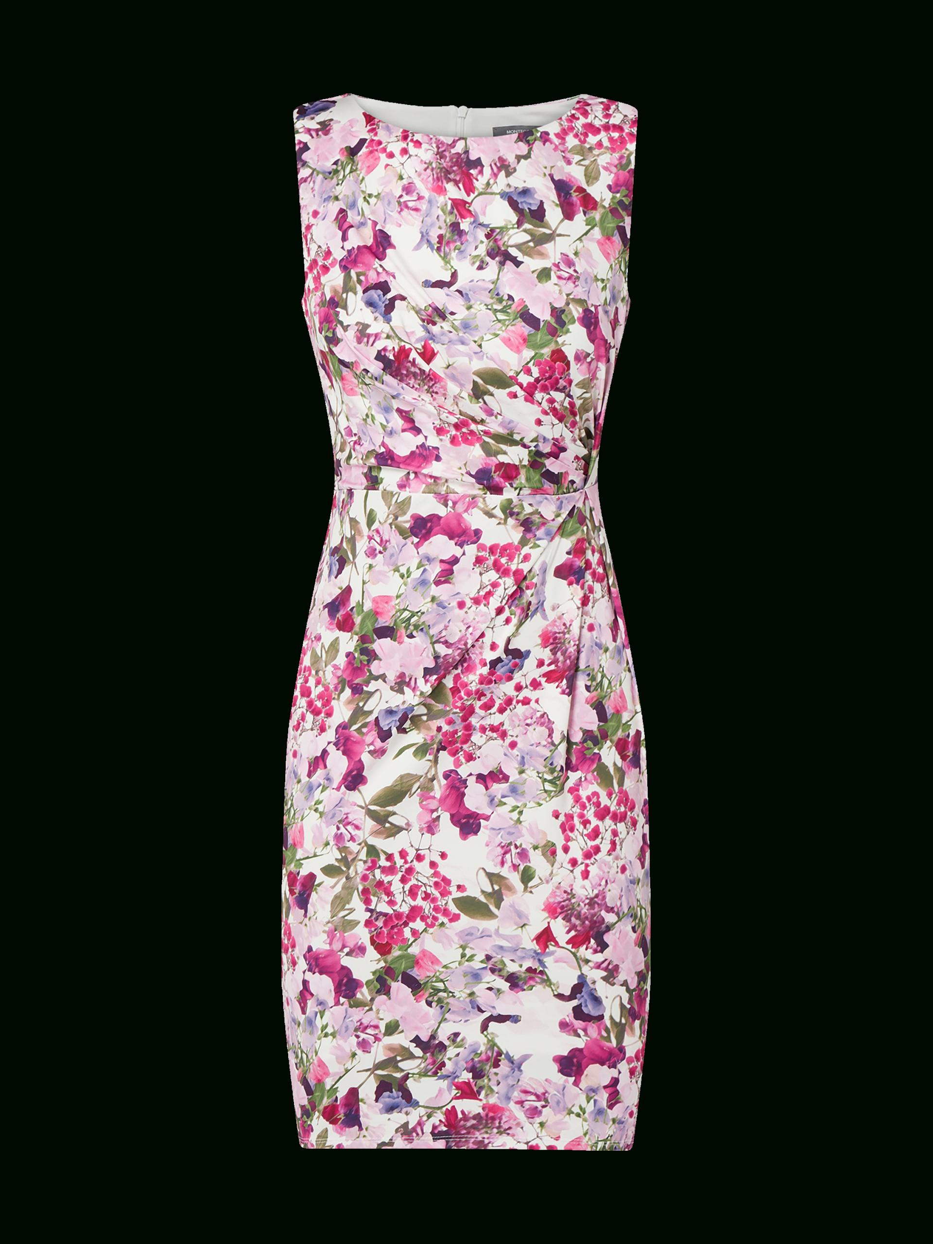 Montego – Kleid Mit Drapierung – Ecru