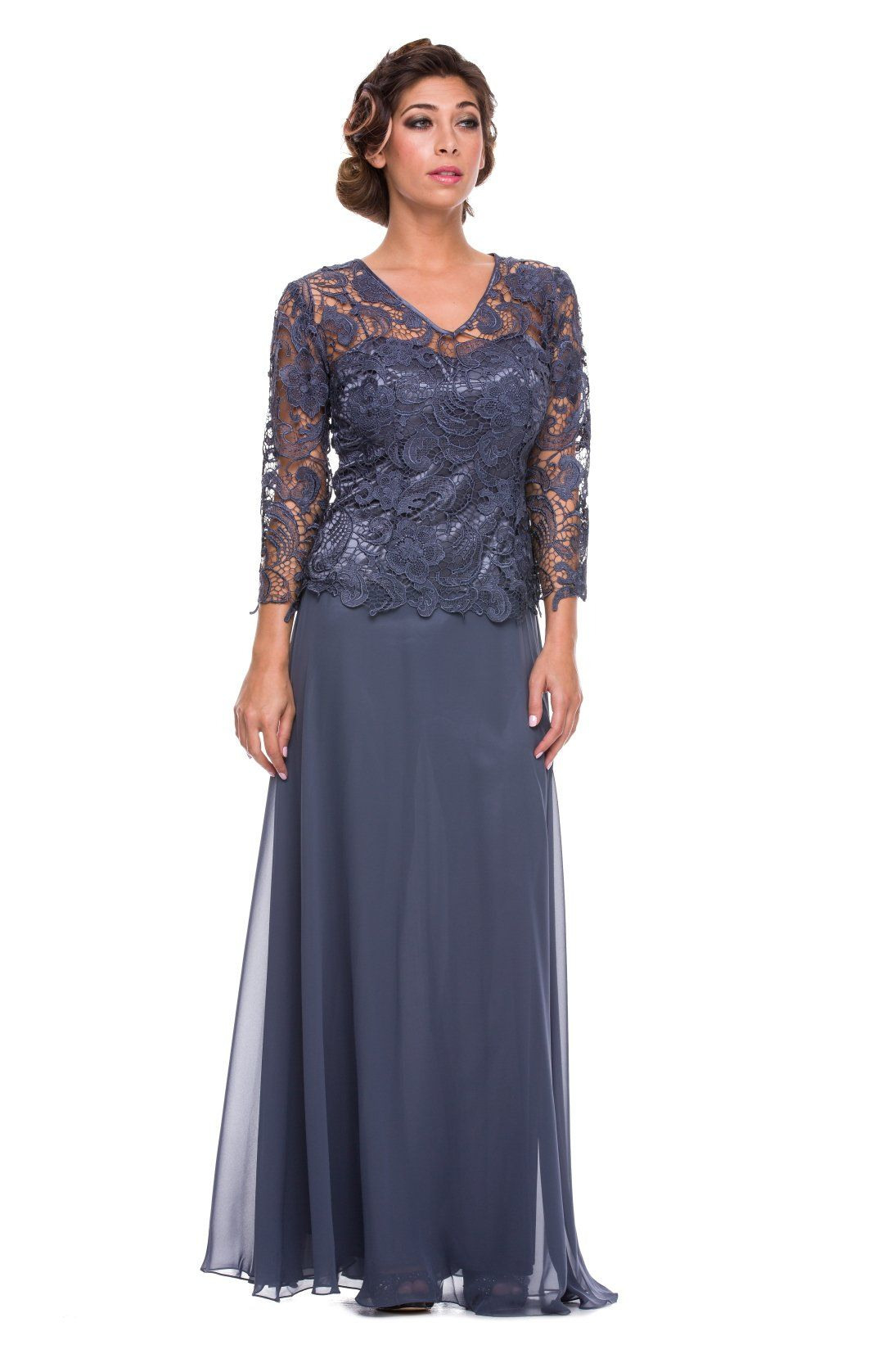 Mother Of The Bride Formal Gown 5040Nx-Steel-Xl | Mutter Der