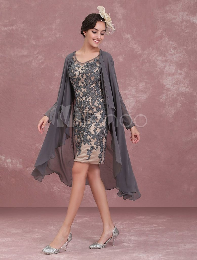 mutter der braut kleider zweiteilige spitze mantel halbe